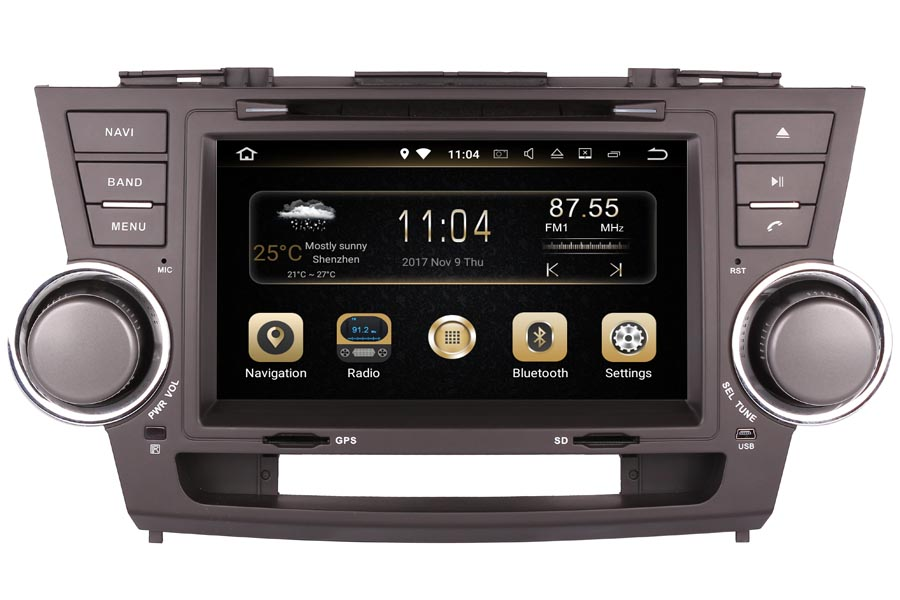 Toyota Highlander 2008-2013 Autoradio GPS Aftermarket Android Head Unit Navigation Car Stereo