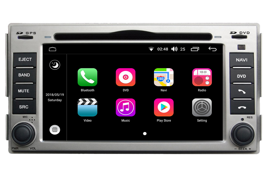 Hyundai Santa Fe 2007-2012 Autoradio GPS Aftermarket Android Head Unit Navigation Car Stereo