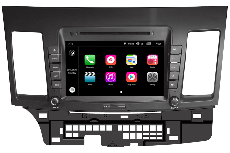 Mitsubishi Lancer 2007-2013 Autoradio GPS Aftermarket Android Head Unit Navigation Car Stereo