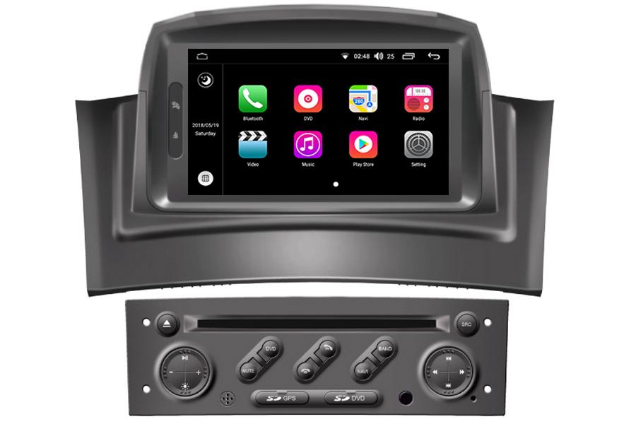 Renault Megane II 2002-2008 Autoradio GPS Aftermarket Android Head Unit Navigation Car Stereo