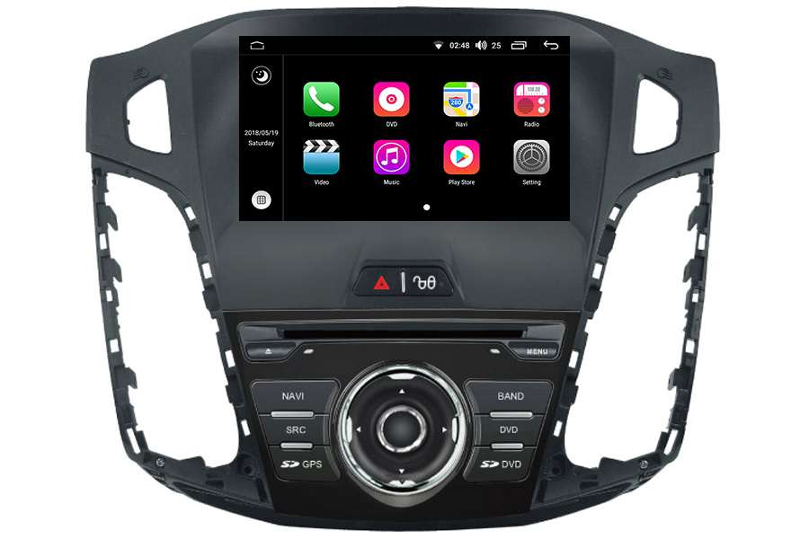 Ford Focus 2012-2014 Autoradio GPS Aftermarket Android Head Unit Navigation Car Stereo
