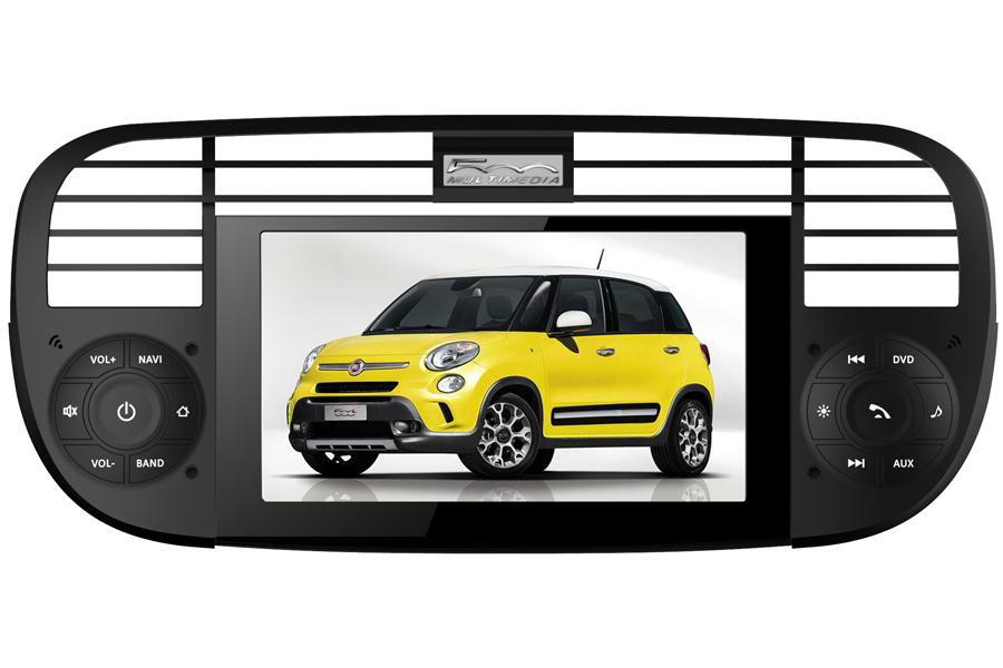 Fiat 500 2007-2012 Autoradio GPS Aftermarket Android Head Unit Navigation Car Stereo