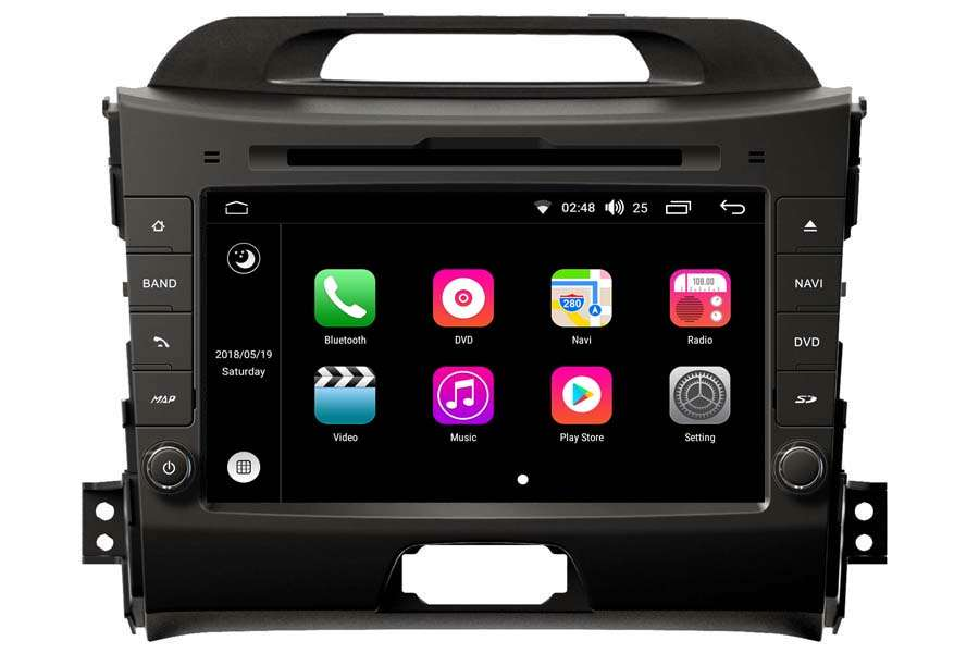 Kia Sportage 2010-2016 Autoradio GPS Aftermarket Android Head Unit Navigation Car Stereo