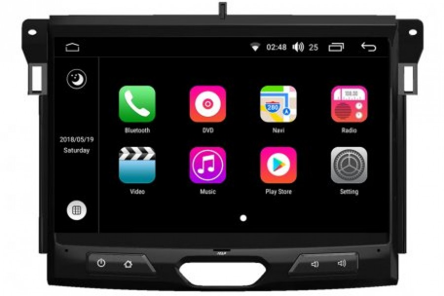 Ford Ranger 2016-2017 Autoradio GPS Aftermarket Android Head Unit Navigation Car Stereo