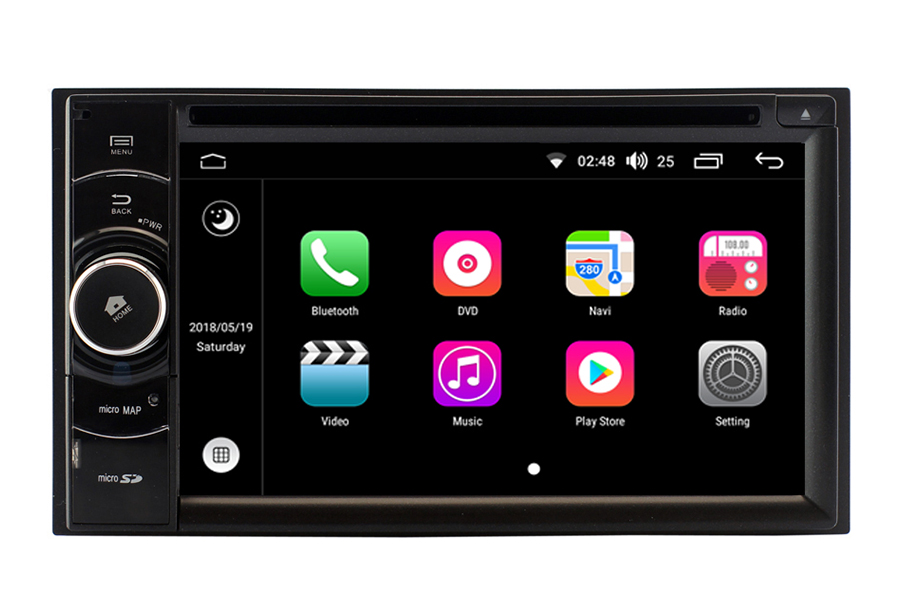 Double Din Android 8 OS Navigation Radio Player