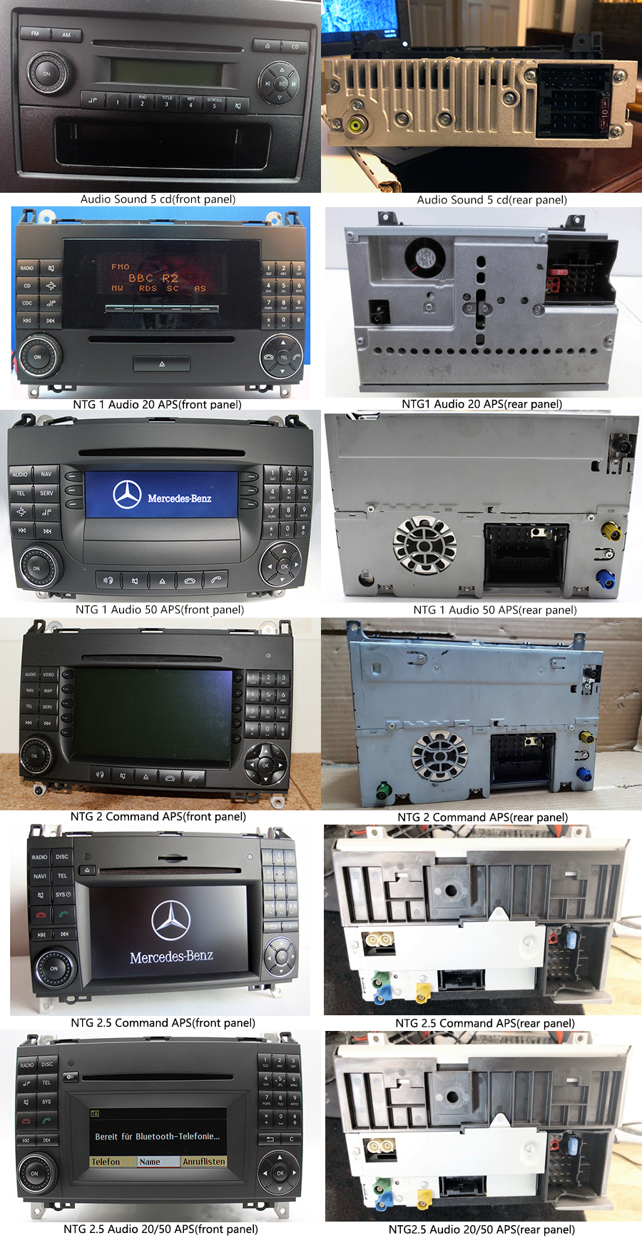 Mercedes-Benz A/B/Viano und Vito/Sprinter/Crafter radio upgrade