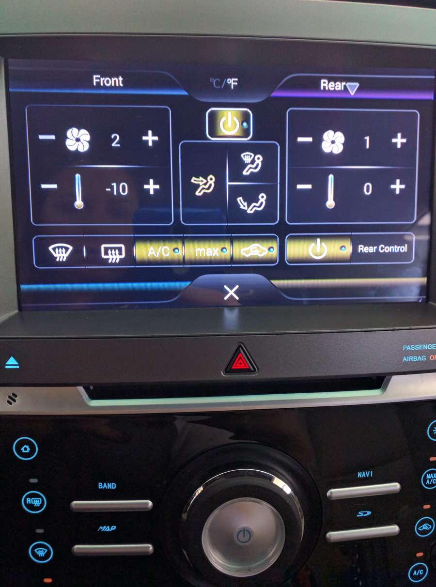 ford explorer air-conditioning control